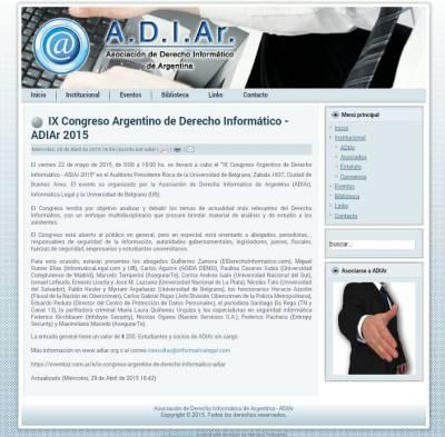 IX Congreso Argentino de Derecho Informático - ADIAr 2015